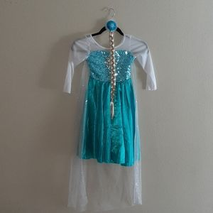 Frozen Elsa Dress with Hairpiece size 3yr